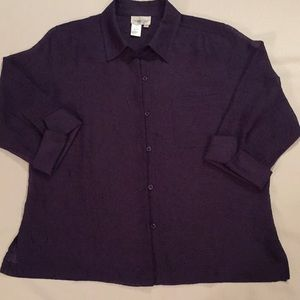 Coldwater Creek - Purple Button Front Top